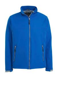 Kjelvik outdoor softshell jas blauw, Blauw