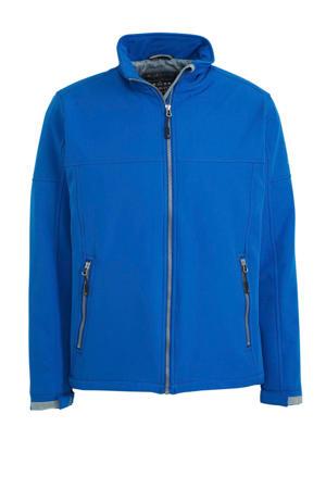 outdoor softshell jas blauw
