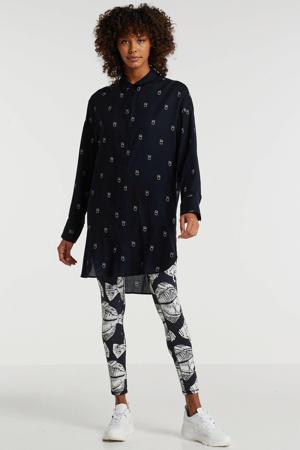 blousejurk met printopdruk grijs