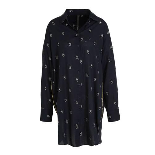 10DAYS blousejurk met printopdruk grijs
