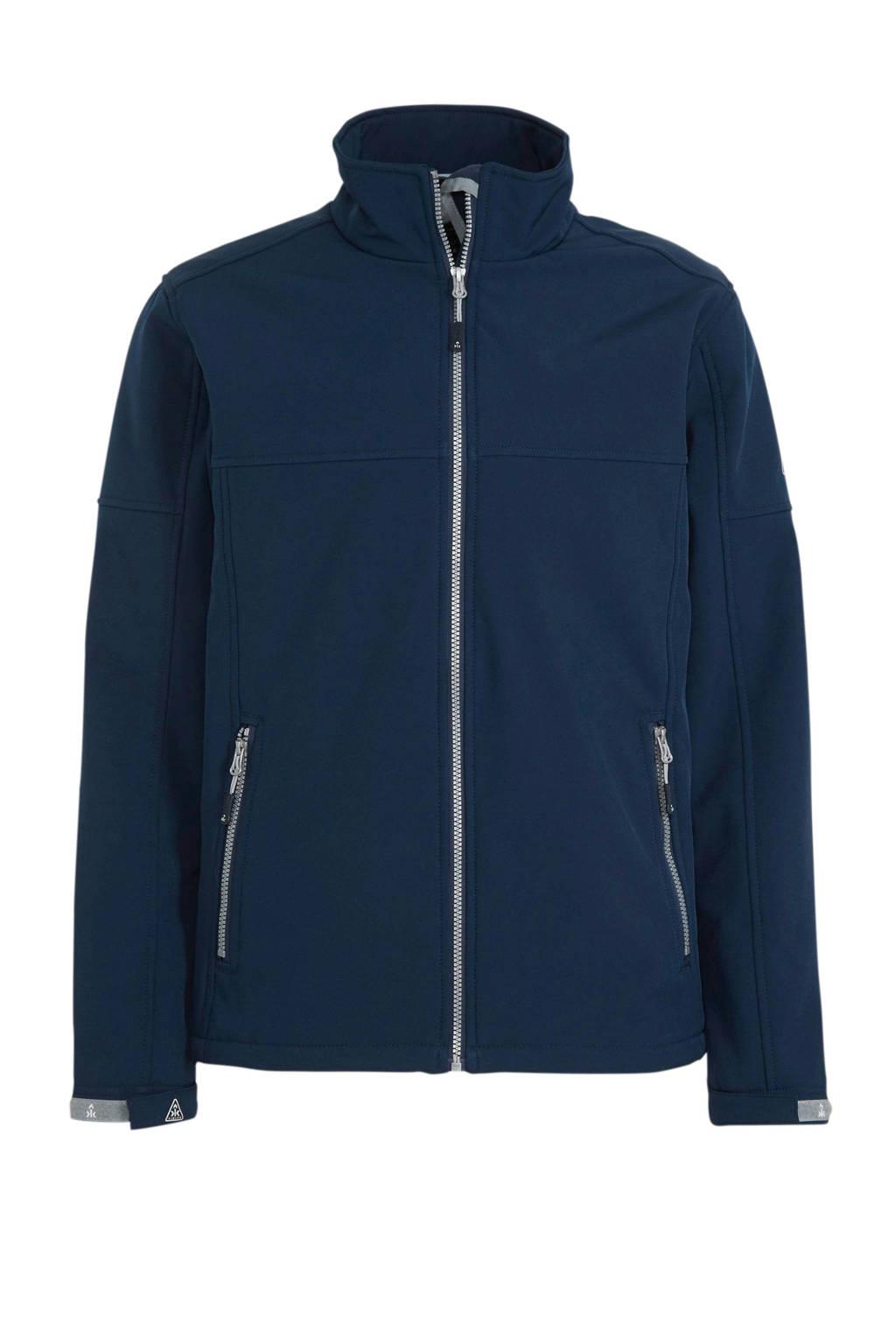 Kjelvik outdoor softshell jack donkerblauw, Donkerblauw
