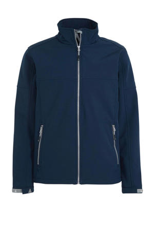 outdoor softshell jas donkerblauw
