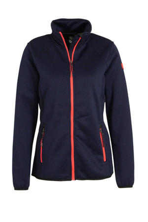 outdoor fleecevest Marya donkerblauw/rood