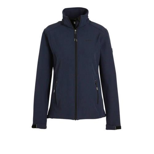 Kjelvik softshell outdoor jas donkerblauw