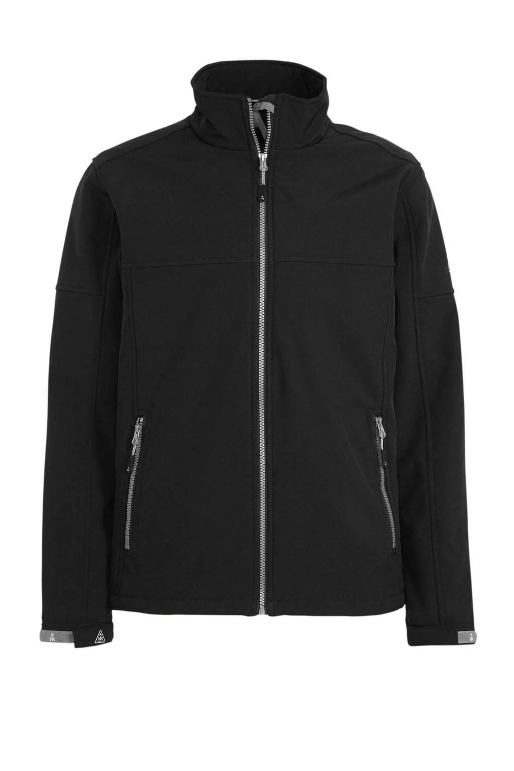 Kjelvik outdoor softshell jack zwart, Zwart
