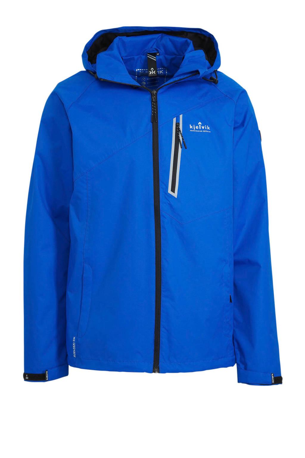 Kjelvik outdoor jas blauw, Blauw
