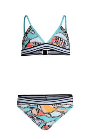 bikini Resort met all over print blauw