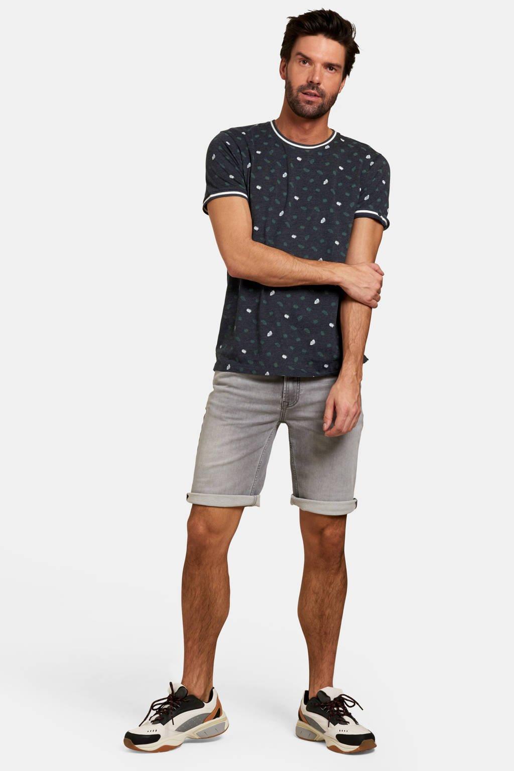 Refill T-shirt met all over print blauw, Blauw