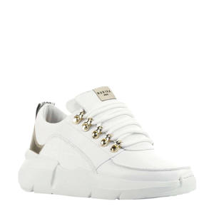 Lucy Royal Croco  leren sneakers wit