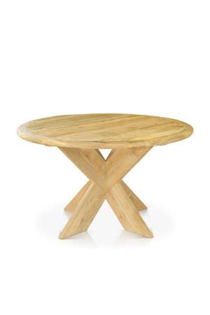 FSC teak houten tuintafel Malta (Ø130 cm)