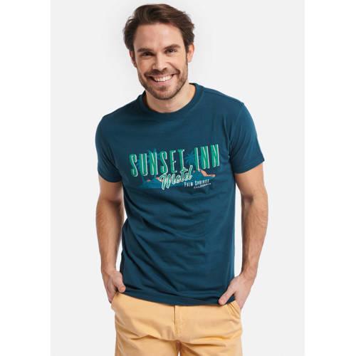 Shiwi T-shirt met printopdruk donkerblauw