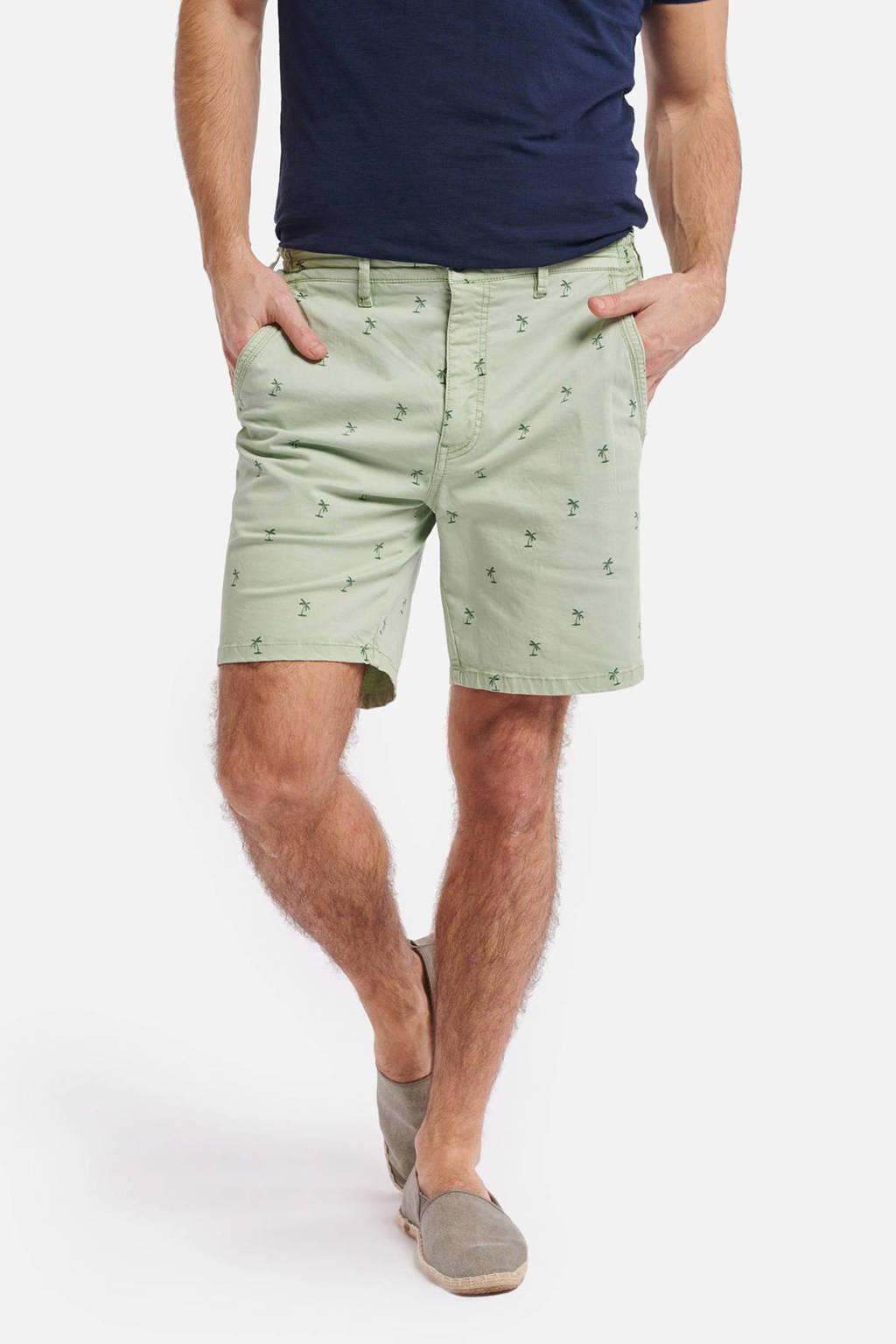 Shiwi regular fit bermuda met all over print groen, Groen