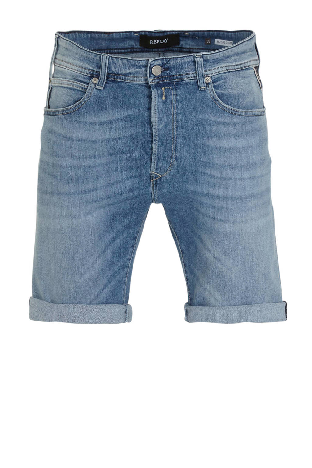 REPLAY regular fit jeans short light blue, Light Blue