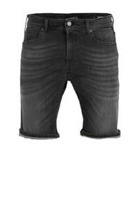 REPLAY slim fit jeans short black, Black