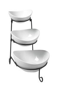 Cosy & Trendy etagère Buffet (3-schalen), Wit