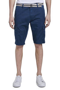 Tom Tailor regular fit cargo bermuda donkerblauw, Donkerblauw