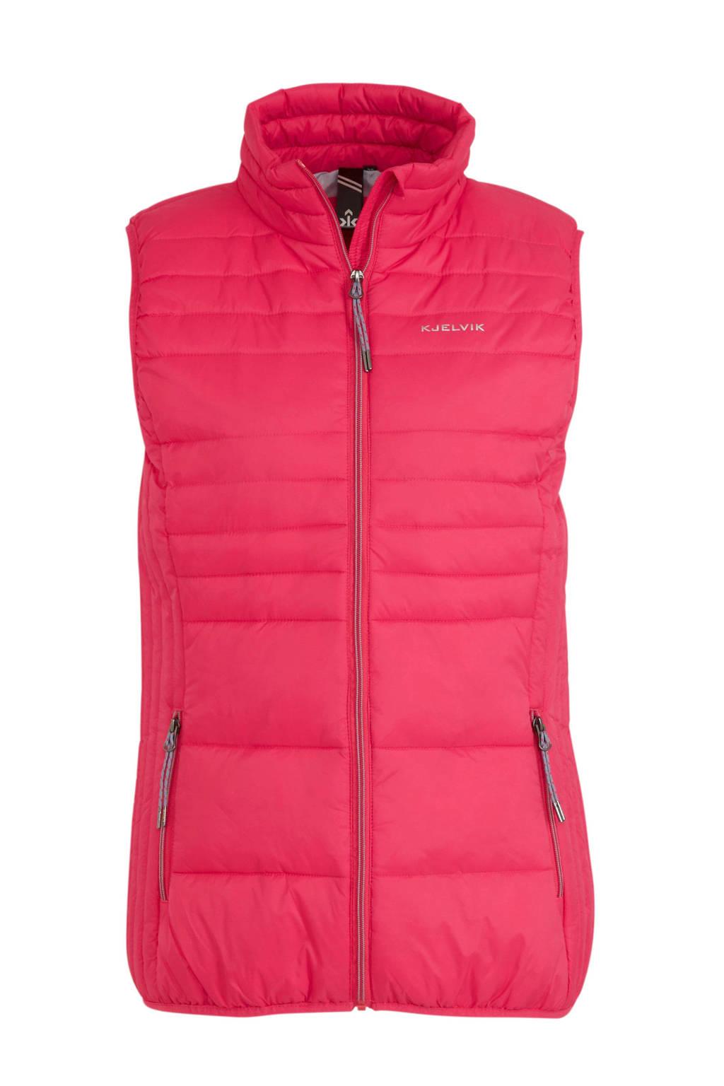 Kjelvik outdoor bodywarmer roze, Roze