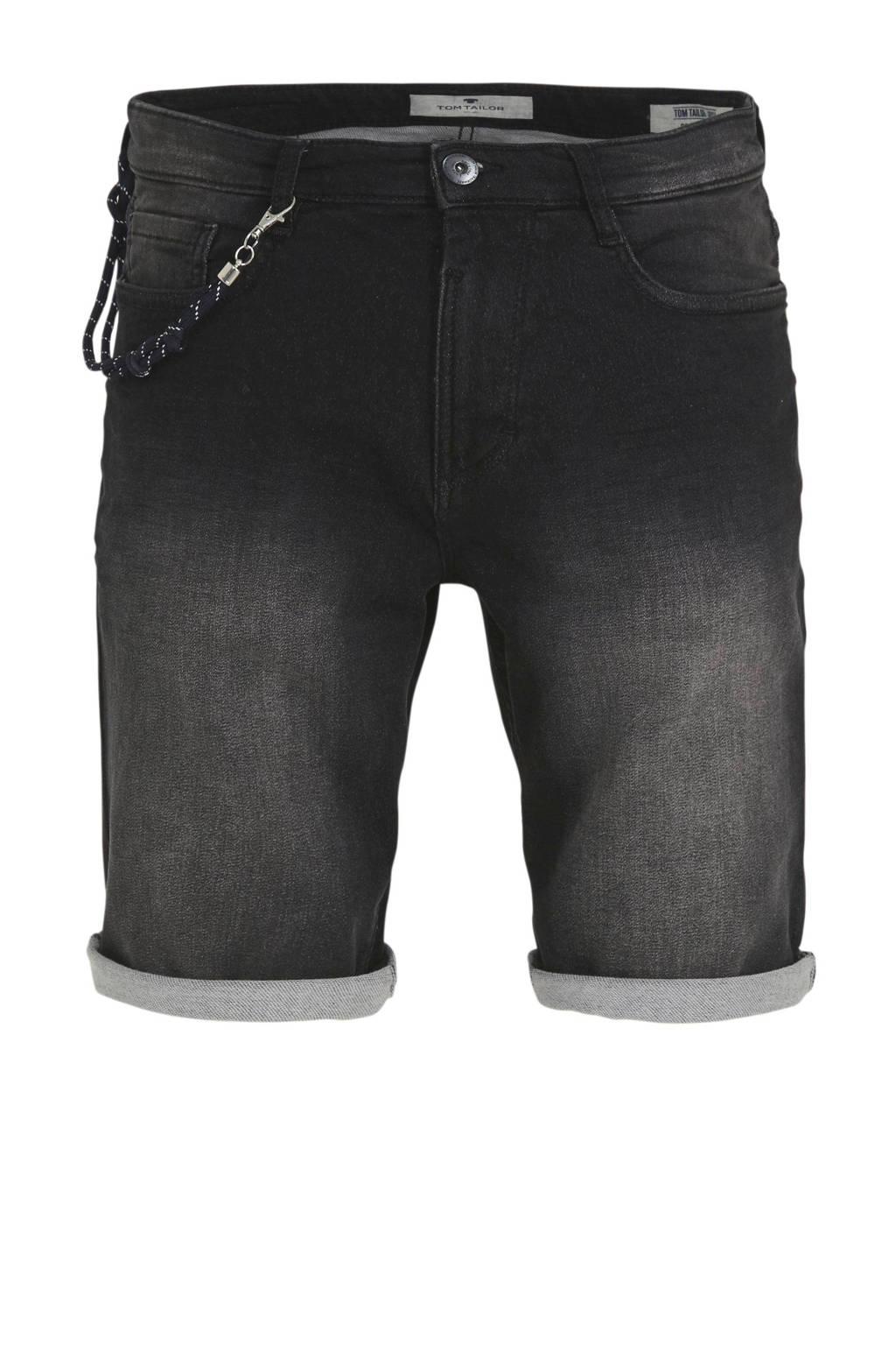 Tom Tailor regular fit jeans short zwart, Zwart