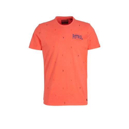 Petrol Industries T-shirt met all over print koraa