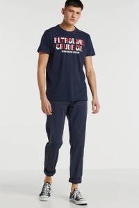 Petrol Industries T-shirt met tekst deep navy, Deep navy
