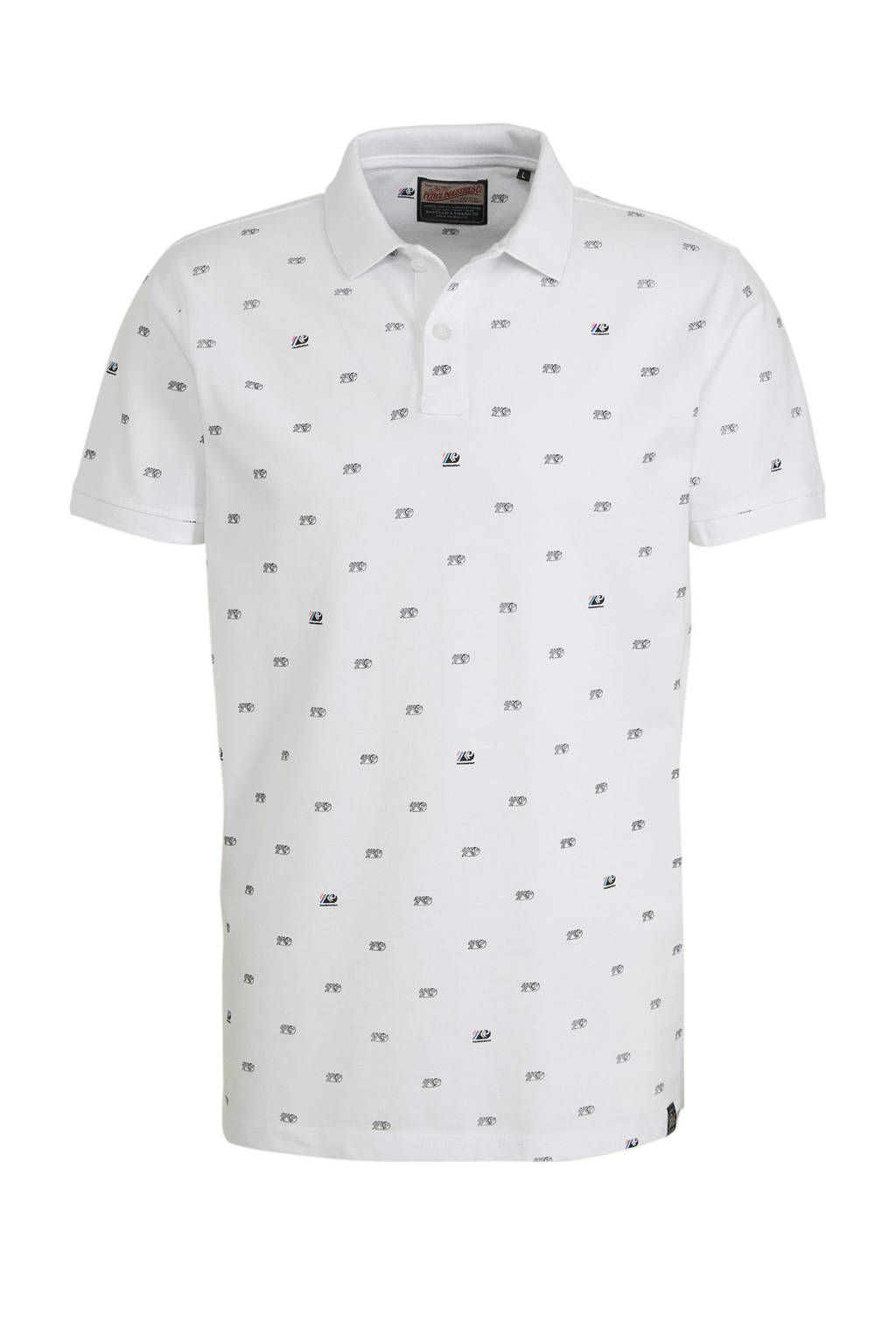 Petrol Industries slim fit polo wit, Wit