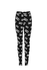CoolCat Junior legging Priya met all over print zwart/wit, Zwart/wit