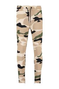CoolCat Junior   skinny joggingbroek Cha met camouflage print beige/olijfgroen/zwart, Beige/olijfgroen/zwart