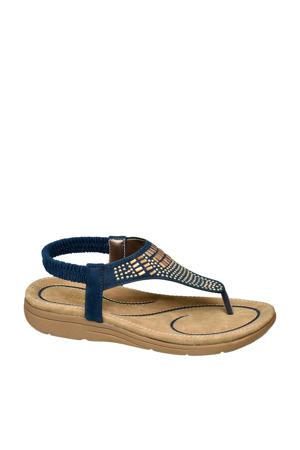 sandalen blauw/goud