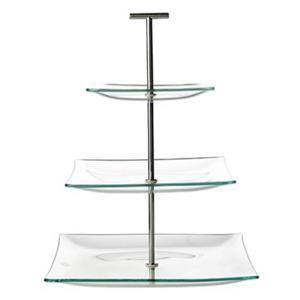 Etagere Glas Vierkant 3 Laag