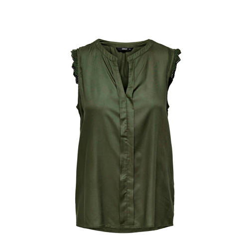 ONLY top Kimmi groen