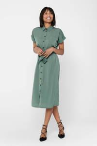 ONLY blousejurk met ceintuur groen, Groen
