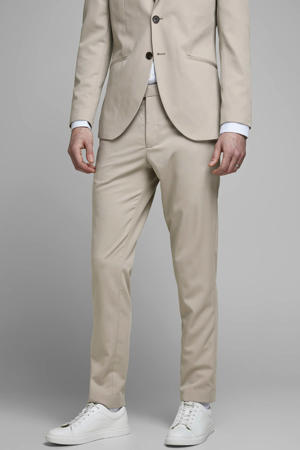 slim fit pantalon beige