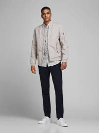 JACK & JONES PREMIUM gebloemd slim fit overhemd wit, Wit