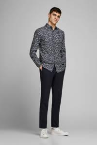 JACK & JONES PREMIUM gebloemd slim fit overhemd donkerblauw, Donkerblauw