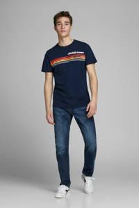 JACK & JONES ORIGINALS T-shirt met printopdruk marine, Marine