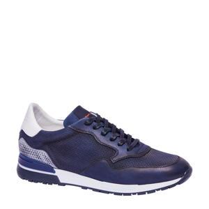 2017506  leren sneakers blauw/wit