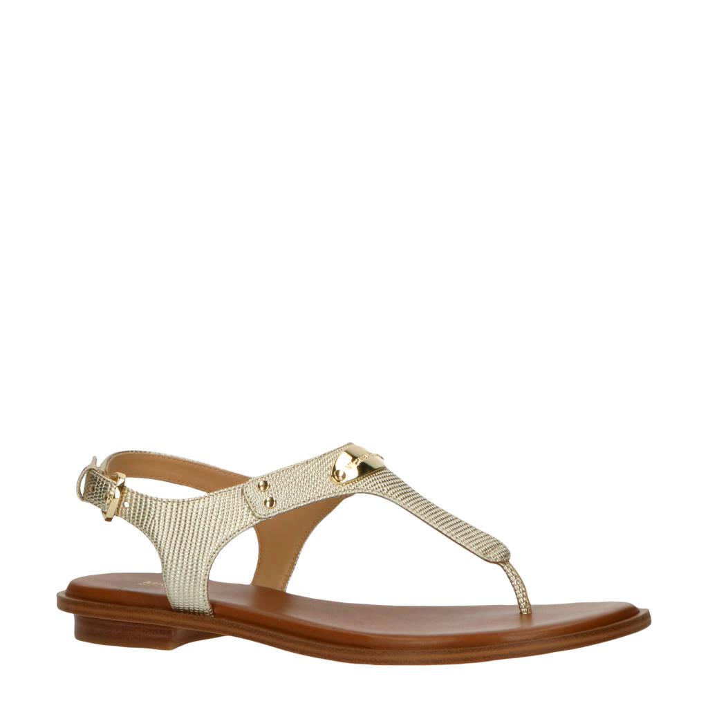 Michael Kors MK Plate Thong  leren sandalen goud, Goud