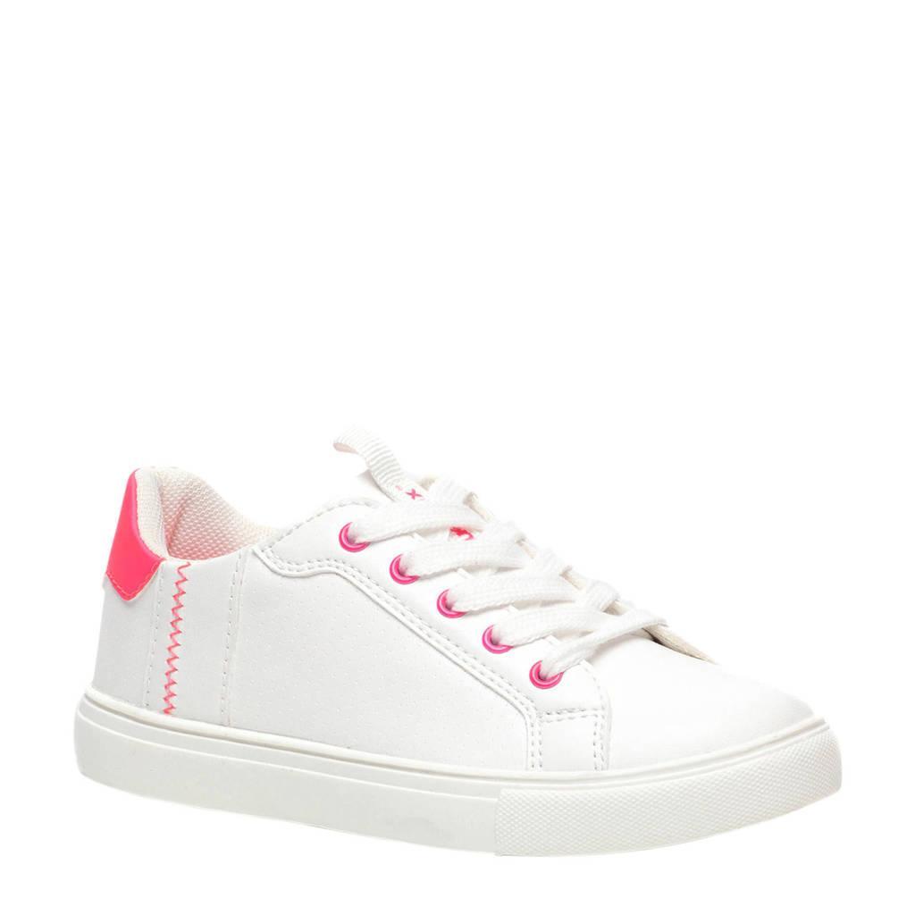 Scapino Blue Box   sneakers wit/neon roze, Wit/neon roze