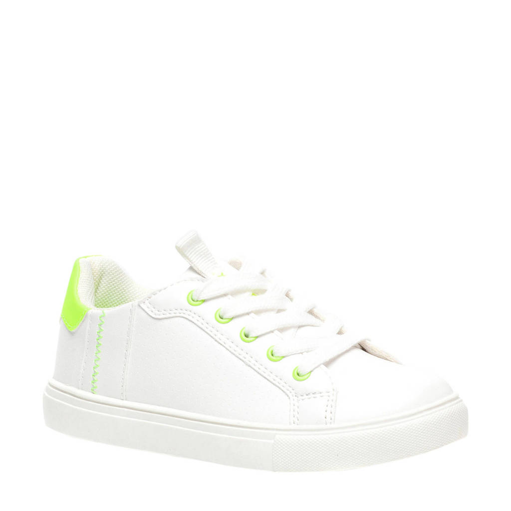 Scapino Blue Box   sneakers wit/neon geel