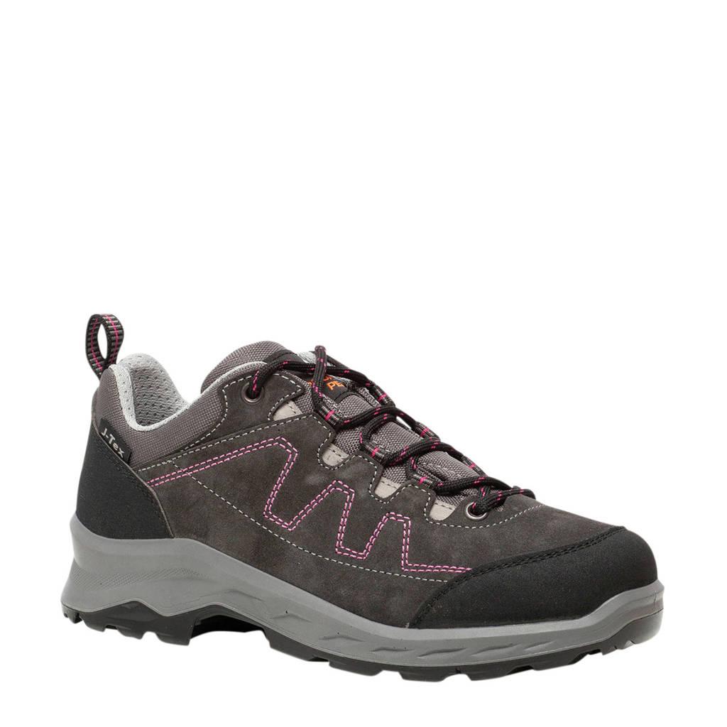 Scapino Mountain Peak   leren wandelschoenen grijs/roze, Grijs/roze