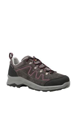 leren wandelschoenen grijs/roze