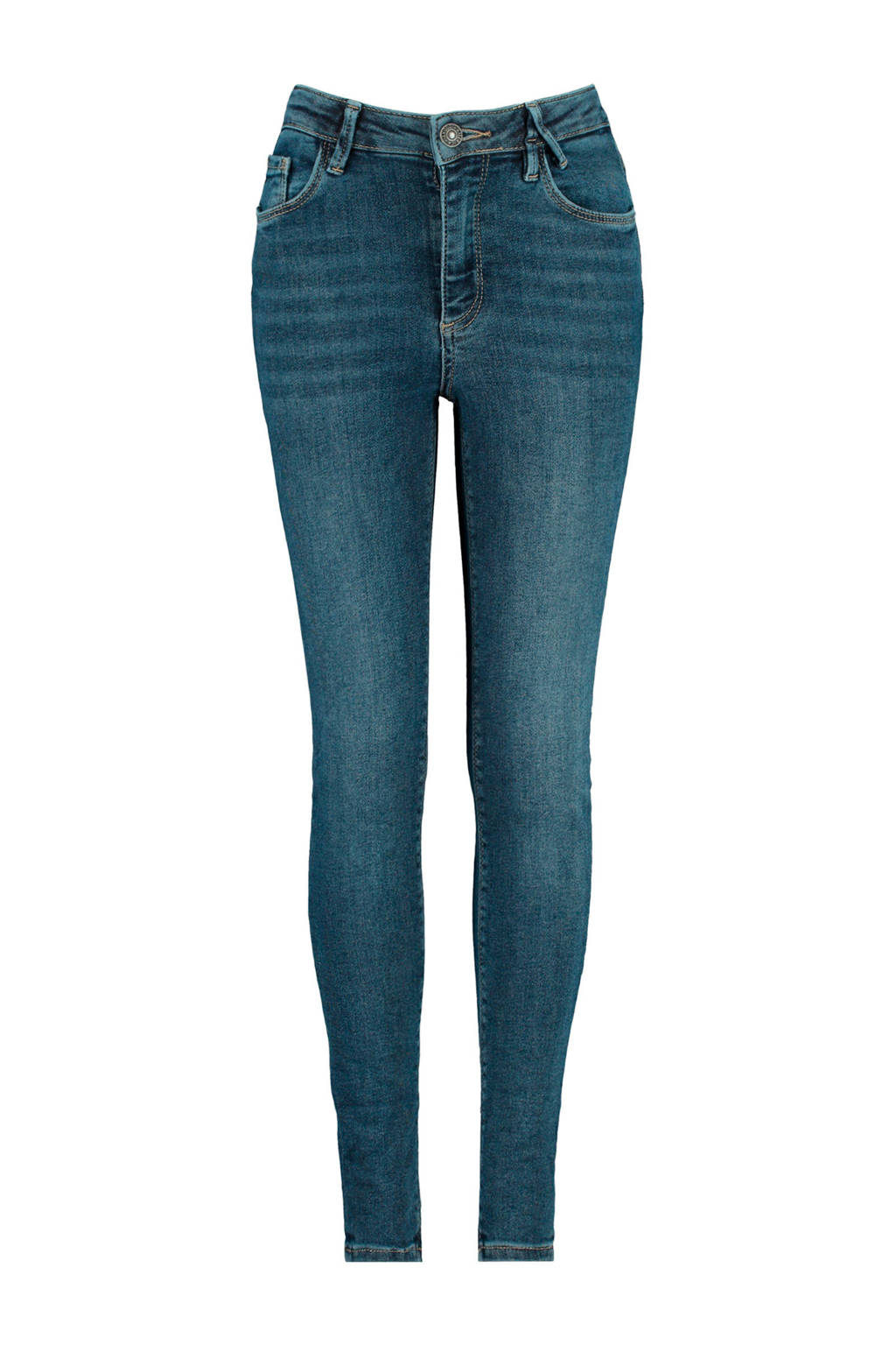 America Today Junior high waist skinny jeans stonewashed, Stonewashed