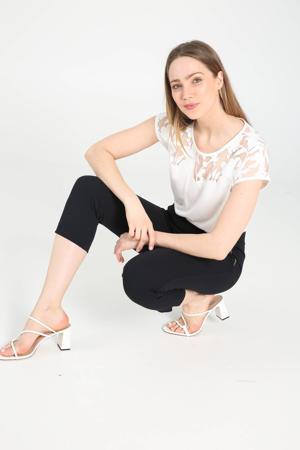 skinny broek marine/zilver