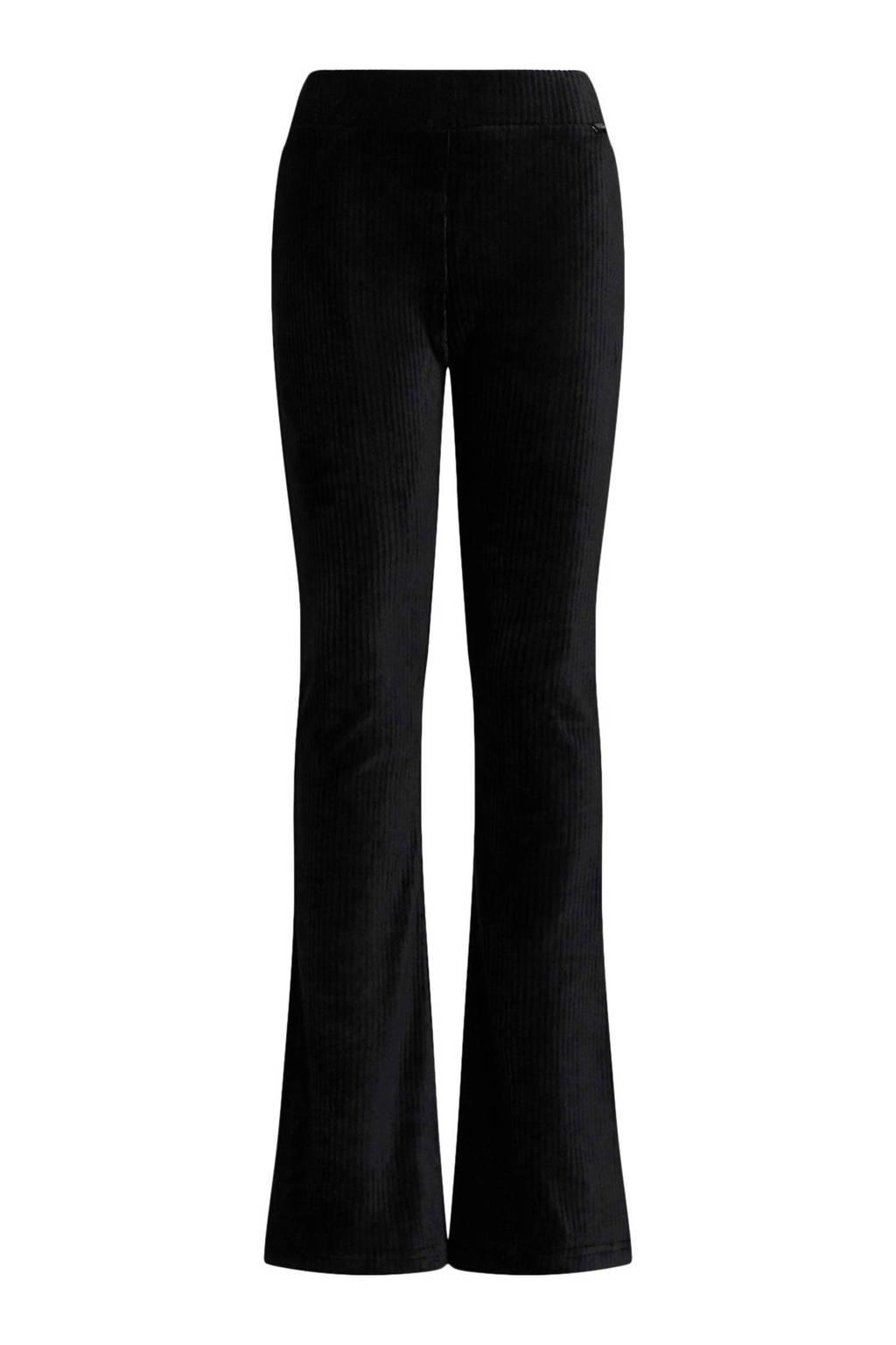 WE Fashion velours broek zwart, Zwart