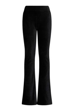 velours broek zwart