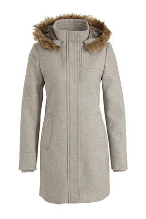gemêleerde coat grijs