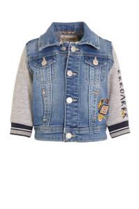 C&A Baby Club spijkerjas met borduursels light denim/grijs/donkerblauw, Light denim/grijs/donkerblauw