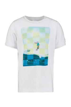 T-shirt Yeroen met printopdruk wit