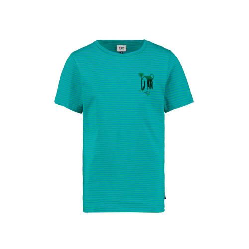 CKS KIDS gestreept T-shirt Yerwin zeegroen