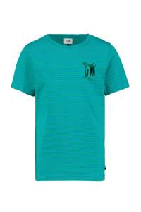 CKS KIDS gestreept T-shirt Yerwin zeegroen, Zeegroen